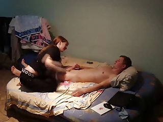 Young Russian Redhead on Hidden Cam