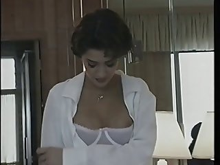 Horny model gets assistance