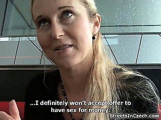 Gorgeous blonde is seduced by stranger part2