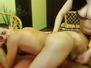 Straight Guy Get Rimmed And Fucked By A Girl With Strap On