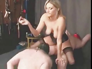 Blonde Mistress fuck and smoke