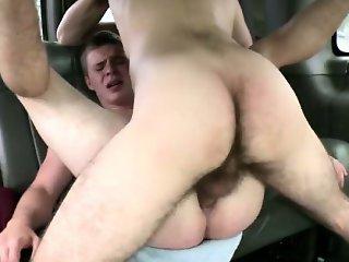 Straight amateur baited into gay anal