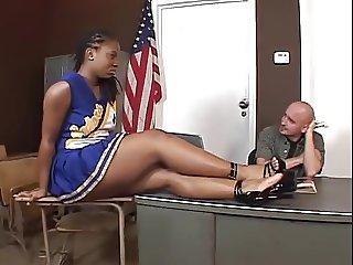 Hottest Ebony Cheerleader Fucking