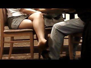 Business Meeting Leg Tease