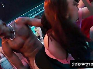 Bi pornstars fuck in club