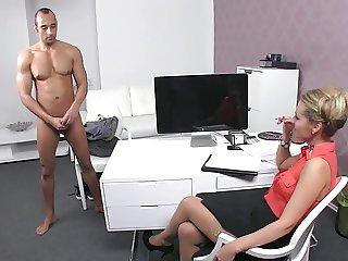 Czech female chef casting a Greek guy