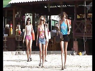 Four Ukrainian girls on vacation