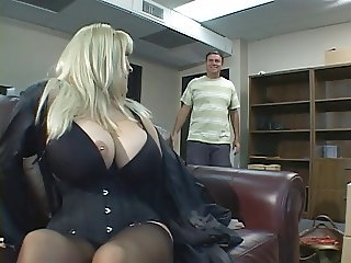 Blonde with a nice rack banged hard