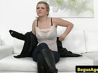 Casted euro amateur doggystyled for audition