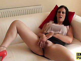 Masturbating busty brit squirting twice
