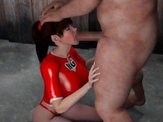 Red Girl vs. Monster pig