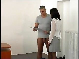 Brunette fucked in the classroom