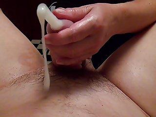 Huge cumshot, double fisting, golden shower, foot fetish