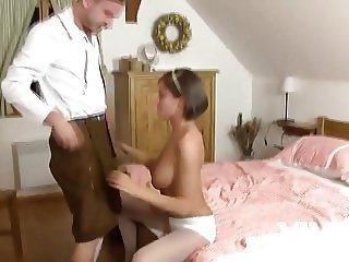 Vivid.com - European tiroler slut milks this guy like a pro