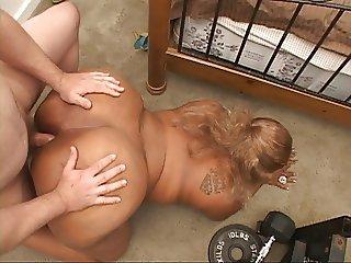 Big Butt Ebony MILF Gets Ass Fucked Hard