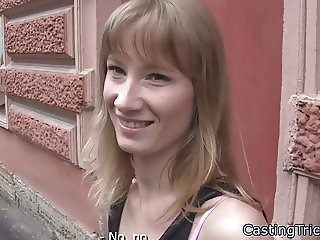 European amateur doggystyled on casting