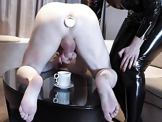 Mistress Humiliation: Milking & Anal Insertion