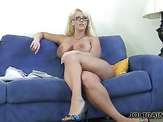 Jerk your cock and cover my pussy with cum JOI