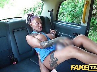 Fake Taxi Busty blonde gym bunny tattooed Milf gets anal