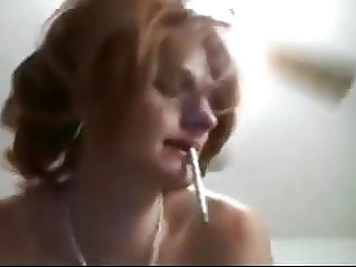 Smoking daughter with PERKY tits fucked by DAD
