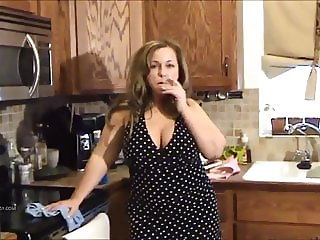 Hot mom fucks while smoking