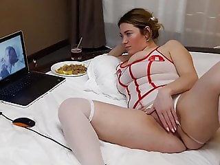 Wife masturbating for porn