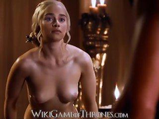 Daenerys Targaryen (Emilia Clarke) em Cenas de Sexo Real em Game of Thrones