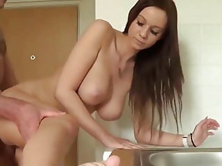 Innocent and Busty Teen Used By Her Owner of an Apartment