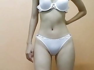 Asian showing off sexy body