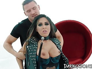 Submissive bitch dominated over and fucked hard