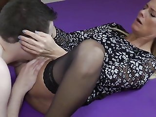 hot milf with big clit takes creampie with her neighbor