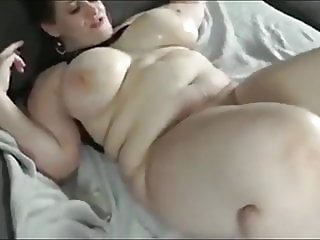 crazy bbw wife having a real orgasm with her neighbor