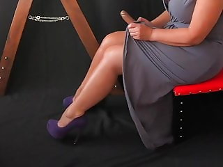 Sissy Slave Teased with Dildo by Mistress
