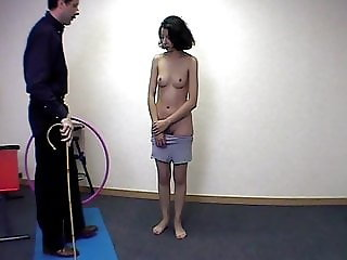 CMNF - French girl stripped and spanked