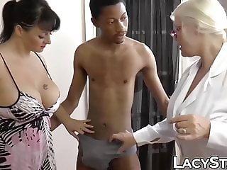 British granny shares big black cock with girlfriend