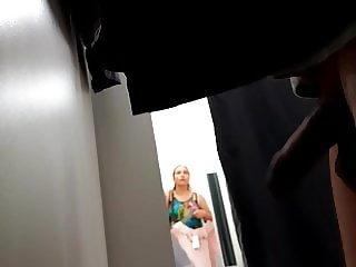 dickflash in dressing room