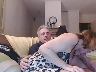 Husband and Wife have fun on Webcam