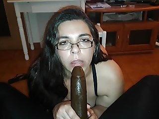 Nasty secretary jctugass loves to suck a big black cock.