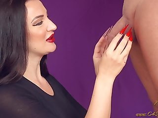 Extra Long Stiletto Nails CBT Insertion