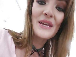 Zoe Sparks rough DAP & TP for skinny cum whore GIO1130