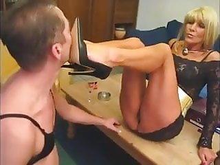 Sissified slave worships Mistress