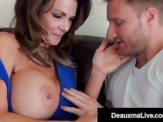 Dick Fucked Deauxma Mounts Young Stud's Throbbing Hard Cock!