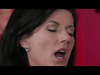 Hot lesbian mom fucking with big titted girl