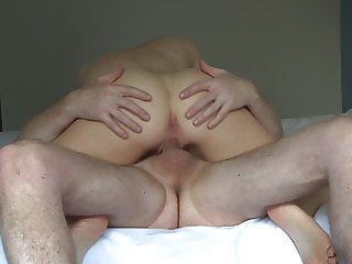 Wife fuck & self rabbit fuck, cuming together orgasm ending