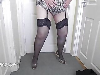 Teasing in my leopard print outfit