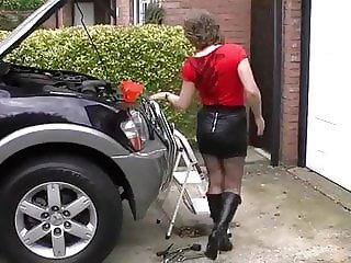 Busty Milf Helps Mechanic with his Hydraulic Pump