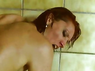 Anal fuck with a mature woman near the pool