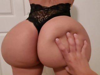 Young couple destroys cock through black panties