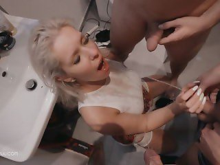 Party with Fans turns to Hardcore Gangbang ( DVP, Pissing, Deepthroat, DP )
