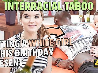 BLACK4K. Huge dick of new black friend makes white babe